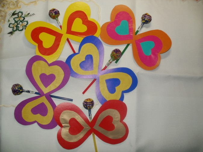 Открытка в виде бабочки валентинка