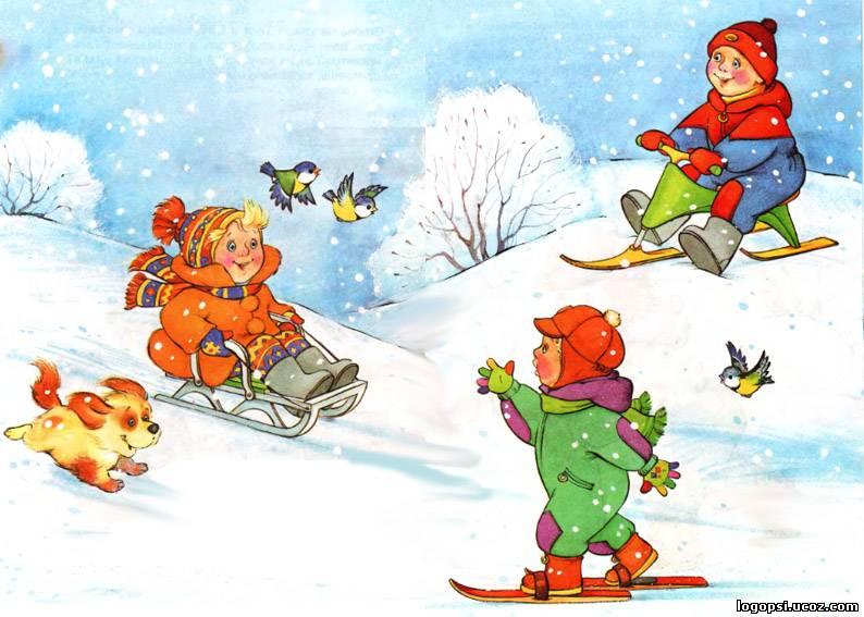 Картинки зима для детей 3-4 лет, прикольная