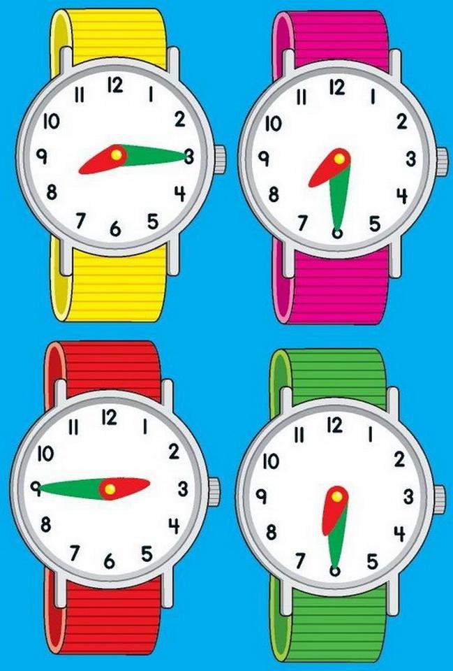 Картинки часы время для детей