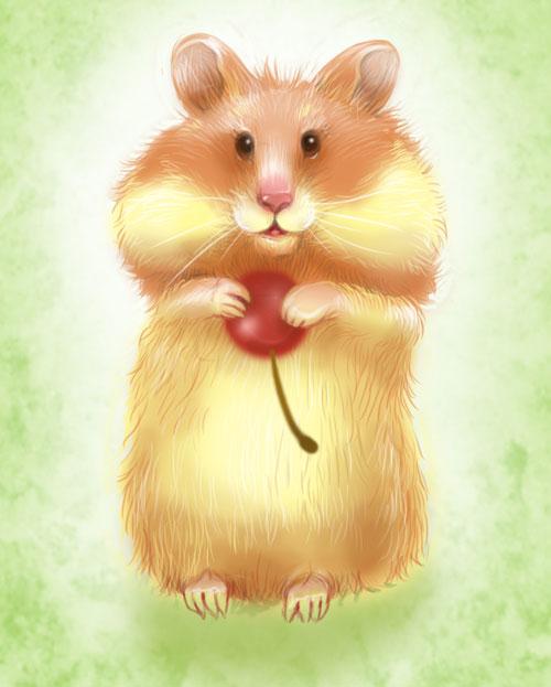 Прикольная, картинка с хомячком для детей