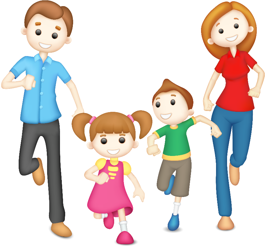Картинка для детей дети с родителями на прозрачном фоне