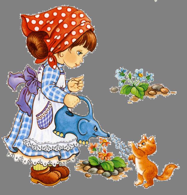 Гифки, дети поливают цветы картинки для детей
