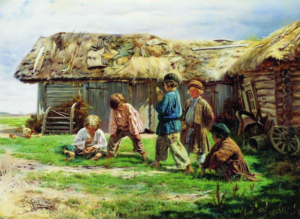 Картинки крестьянские дети